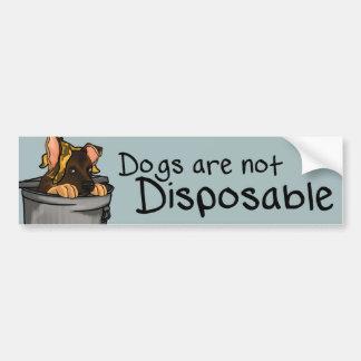Les chiens ne sont pas jetables autocollant pour voiture
