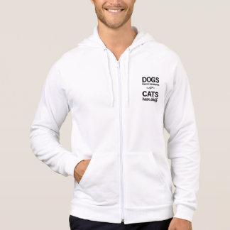 Les chiens ont des propriétaires, chats ont le veste à capuche