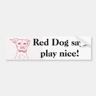 Les chiens rouges indique autocollant de voiture