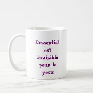 les choses essentielles mug blanc