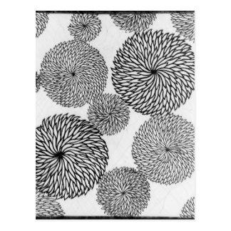 Les chrysanthèmes de l'école japonaise carte postale