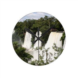 Les chutes d'Iguaçu, Argentine, Amérique du Sud Horloge Ronde