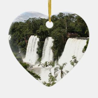 Les chutes d'Iguaçu, Argentine, Amérique du Sud Ornement Cœur En Céramique