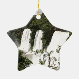 Les chutes d'Iguaçu, Argentine, Amérique du Sud Ornement Étoile En Céramique