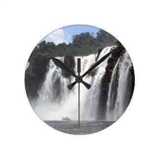 Les chutes d'Iguaçu et bateaux, Argentine Horloge Ronde