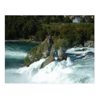 Les chutes du Rhin pittoresques en Suisse Carte Postale