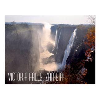 Les chutes Victoria, carte postale de la Zambie