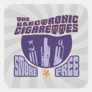 Les cigarettes électroniques - sans fumée sticker carré