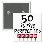 les cinquantième cadeaux d'anniversaire, 50 est 5  badges