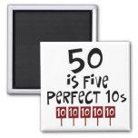 les cinquantième cadeaux d'anniversaire, 50 est 5  magnets