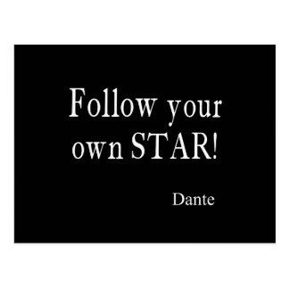 Les citations vintages de Dante suivent votre Carte Postale