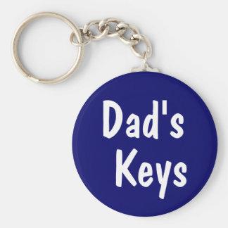 Les clés du papa porte-clé rond