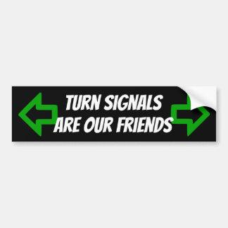 Les clignotants sont notre autocollant d'amis avec