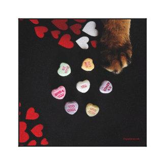 """Les coeurs de sucrerie de Kitty 8"""" x8"""" ont envelop Toile"""