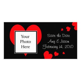 Les coeurs sauvent le carte photo de mariage de da photocarte personnalisée