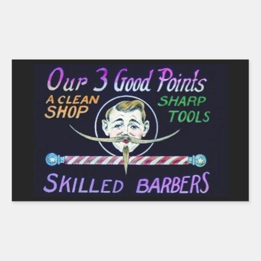 Les coiffeurs de salon de coiffure annoncent vos autocollants en rectangle