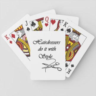Les coiffeurs le font avec le style jeu de cartes