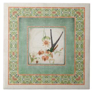 Les colibris vintages n de Chinoiserie fleurit le Carreau