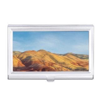 Les collines peintes dans les lits de fossile de boîtier pour cartes de visite