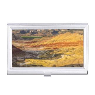 Les collines peintes dans les lits fossiles 3 de étuis pour cartes de visite