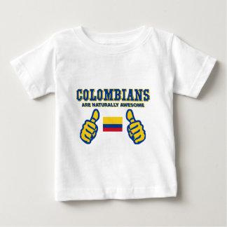 les colombians sont naturellement impressionnants t-shirt pour bébé