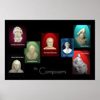 Les compositeurs 36 x 24 affiches posters