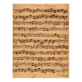 Les concerts de Brandenburger, No.5 D-Dur, 1721 Carte Postale
