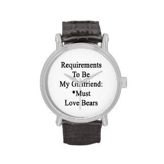 Les conditions d être mon amie doivent aimer des montres cadran