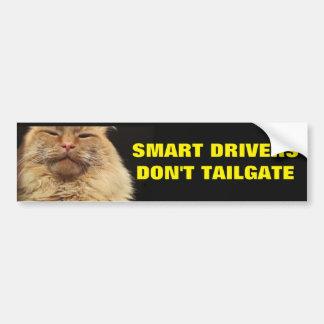 Les conducteurs futés ne font pas porte à autocollant de voiture