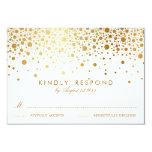 Les confettis de feuille d'or de Faux pointillent Invitations Personnalisées