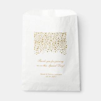 Les confettis d'or épousant   personnalisent sachets en papier