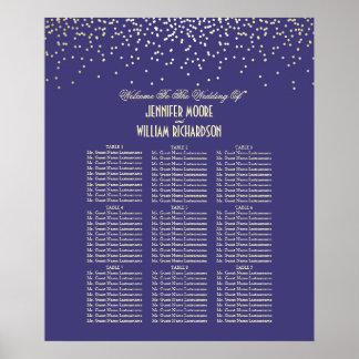 Les confettis d'or pointillent le diagramme poster