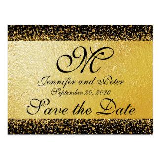 Les confettis d'or sur le noir sauvent la carte de