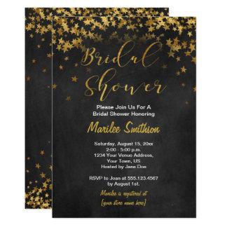 Les confettis d'or tiennent le premier rôle la carton d'invitation  12,7 cm x 17,78 cm