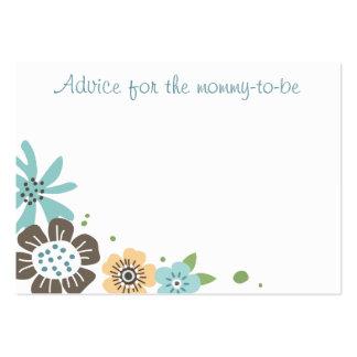 Les conseils mignons de fleurs pour nouveau modèles de cartes de visite