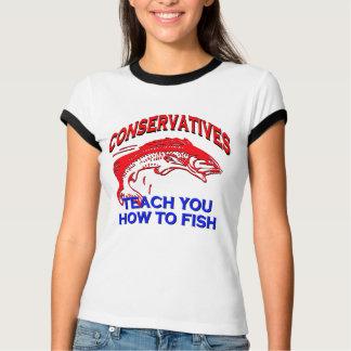 Les conservateurs vous enseignent à pêcher t-shirt