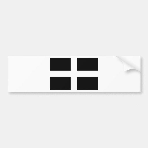 Les Cornouailles, une nation celtique de l'Europe Autocollants Pour Voiture