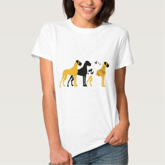 Les couleurs de base de Danois T-shirts
