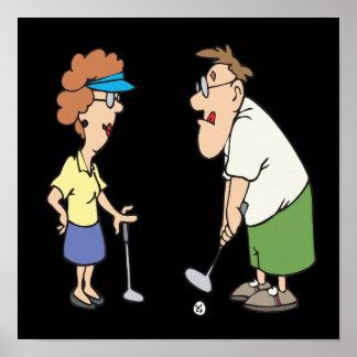 Les couples qui jouent au golf ensemble restent en affiche