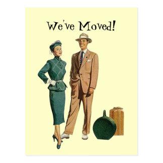 Les couples vintages de rétro carte postale