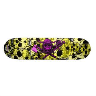 Les crânes refroidissent la conception de planche  skateboards customisés