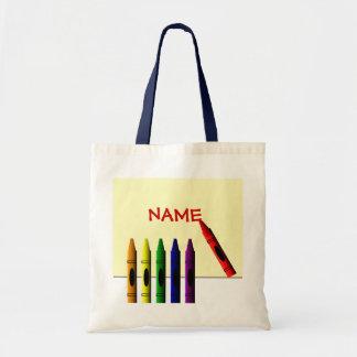 Les crayons colorent mon sac fourre-tout à enfants
