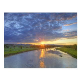 Les crochets de rivière de poudre durent la carte postale