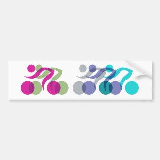 Les cyclistes refroidissent le logo autocollant pour voiture