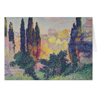 Les cyprès chez Cagnes, 1908 Carte De Vœux