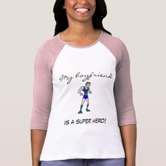 Les dames 3/4 de mon ami est un superhéros ! Fer T-shirts