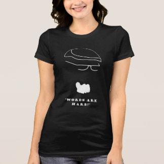 """Les dames """"mots sont"""" pièce en t dure t-shirt"""