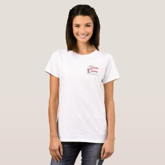 Les dames ont dessiné le tee - shirt de logo de t-shirt