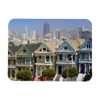 Les dames peintes célèbres de San Francisco Magnet Rectangulaire