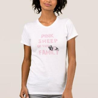 Les dames roses de moutons ont détruit le T-shirt